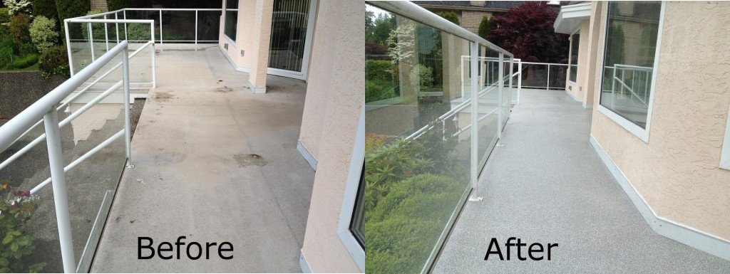 Vinyl Deck Repairs, Surrey before-after