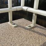 Rail on waterproof deck Vancouver