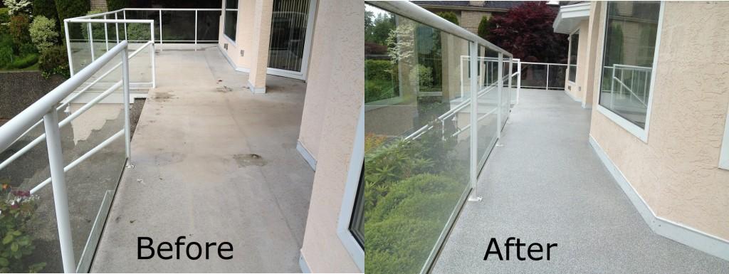 Vinyl Deck Repairs, Surrey before-after