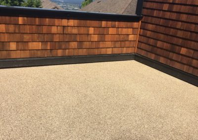 Waterproof deck membrane after repair in Port Moody